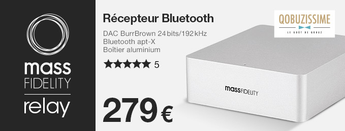 Mass Fidelity Relay : R�cepteur bluetooth apt-X avec DAC Burr Brown