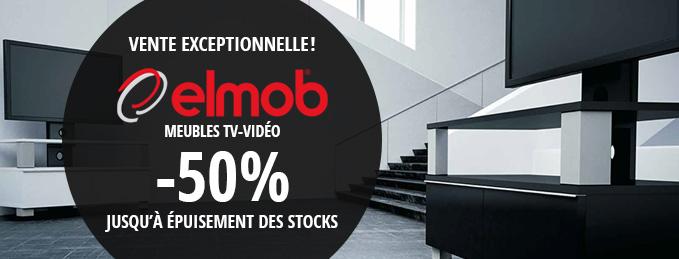Meubles TV Elmob : 50% de remise, stock limité