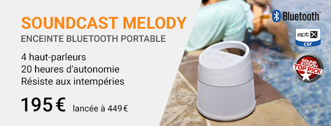 Soundcast Melody : Enceinte Bluetooth portable