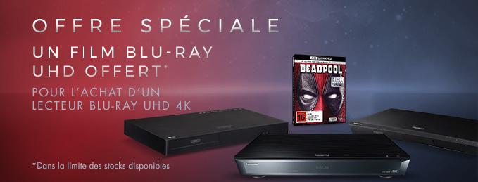 Lecteurs Blu-ray UHD 4K : Film 4K Ultra HD offert !