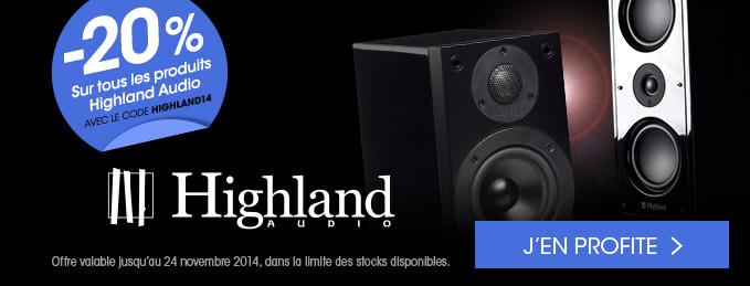 Highland Audio : 20% de remise sur toutes les enceintes