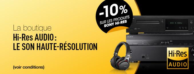 D�couvrez le son Hi-Res : 10% de remise sur la s�lection SONY Hi-Res