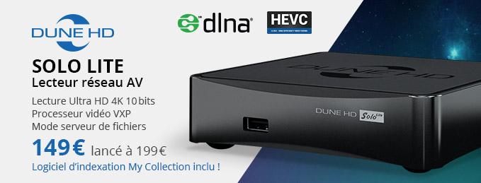 Dune HD Solo Lite : Lecteur réseau AV