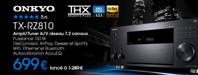 Onkyo TX-RZ810 : Amplis home-cinéma 7.2