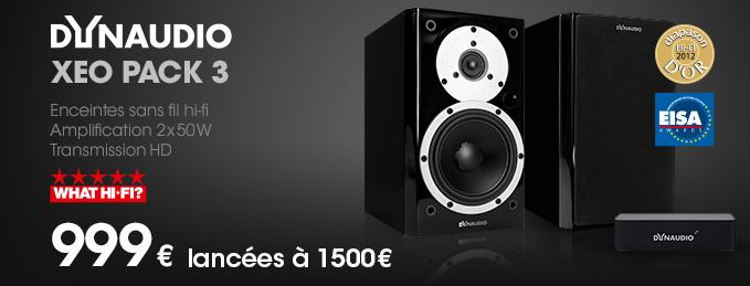 Dynaudio Xeo Pack 3 : Enceintes sans fil Hi-Fi 2x50 W