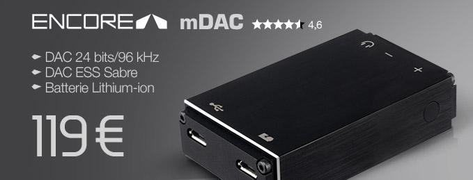 Encore mDAC : DAC Audio portable 24/96 et DSD
