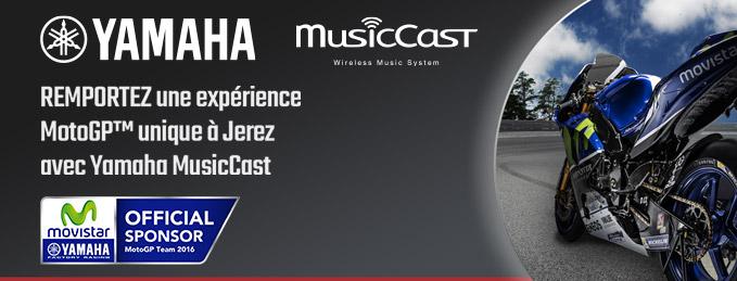 Yamaha MusicCast : Remportez une exp�rience MotoGP