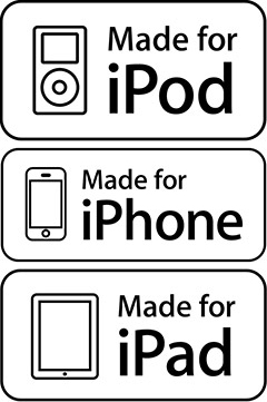Made for iPod, iPhone, iPad