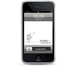 Fonds d\'écran iPhone Son-Vidéo.com blanc